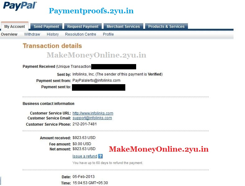 Infolinks payment proof feb 2013 - paymentproofs.2yu.in