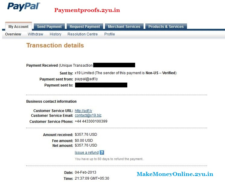 adfly payment proofs 2013 feb - paymentproofs.2yu.in