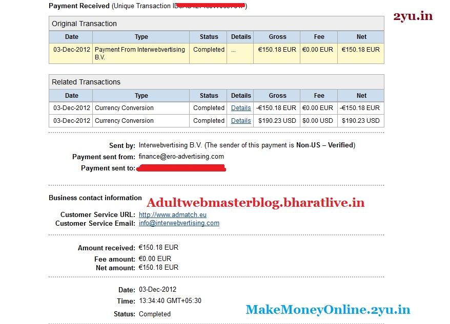 ero-advertising payment proof Dec 2012