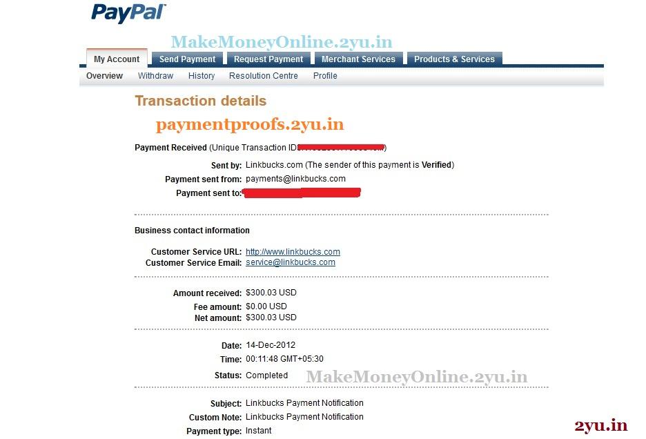 linkbucks payment proof dec 2012 - PaymentProofs.2yu.in