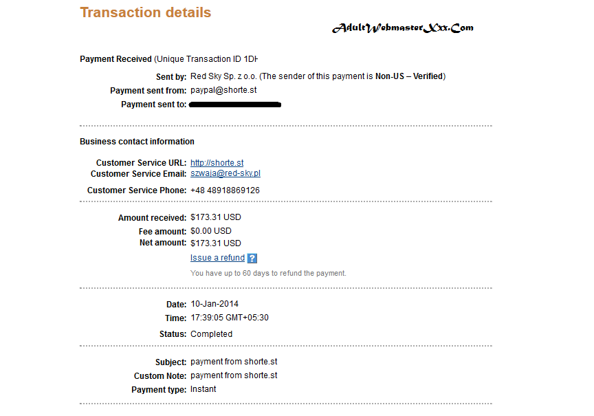 shortest payment proof