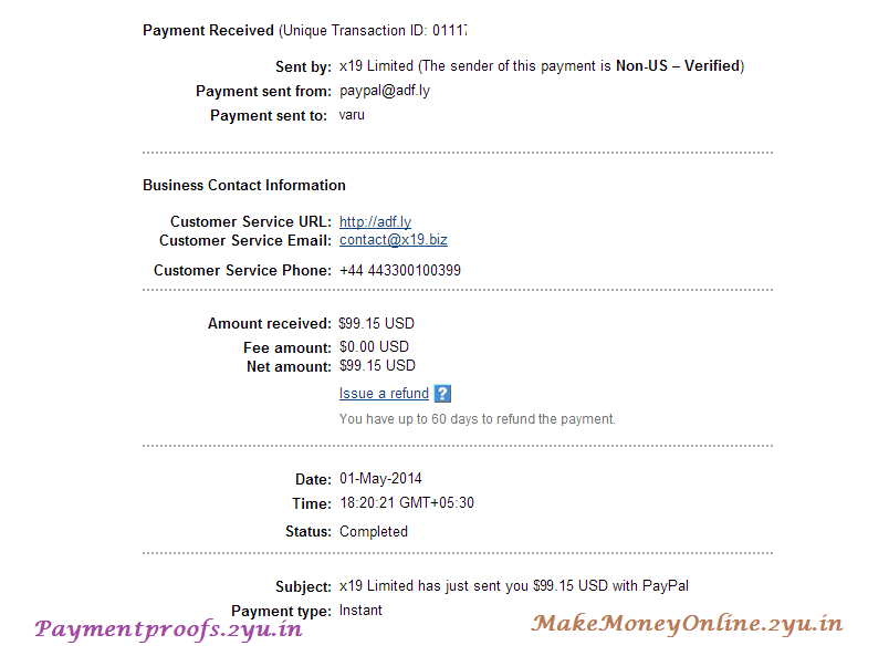 adfly Payment - May 2014